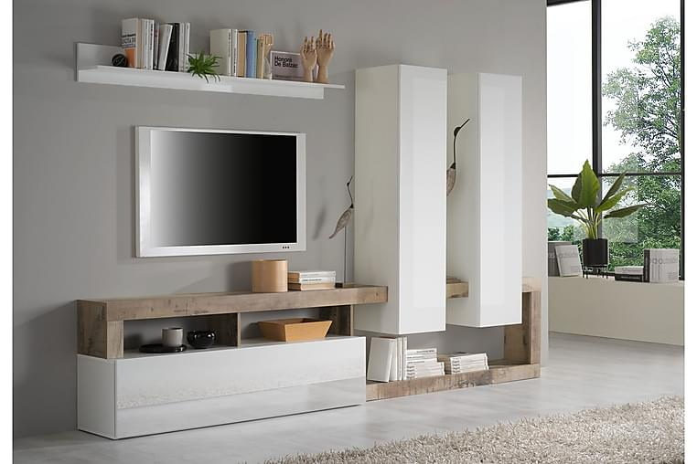 TV-skåp Wedel 55x277 cm - Vit - Möbler - TV- & Mediamöbler - TV-skåp