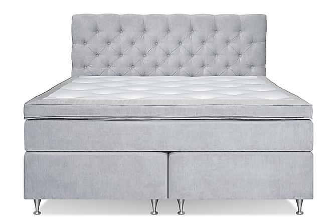 Komplett Sängpaket Paraiso Kontinentalsäng 180x200 - Ljusgrå - Möbler - Sängar - Dubbelsängar