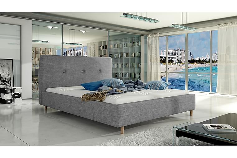Ramsäng Mellani 140x200 cm - Grå - Möbler - Sängar - Dubbelsängar