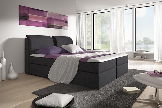 Komplett Box Bed Tyler 160x200 Svart - Svart - Möbler - Sängar - Komplett sängpaket