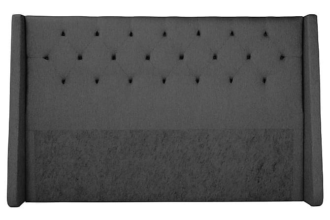 Komplett Sängpaket Langham 210x210 cm Grå - Grå Svart - Möbler - Sängar - Komplett sängpaket