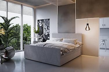 Sängpaket Milano 160x200 Mönstrad Gavel
