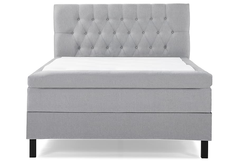 Komplett Sängpaket Olivia 140x200 Diamant Sänggavel Ljusgrå