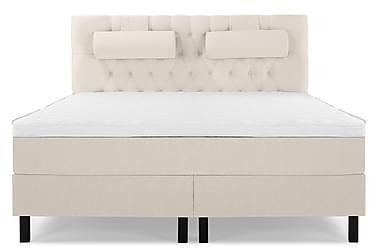 Komplett Sängpaket Olivia 160x200 Diamant Sänggavel Beige