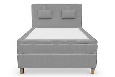 Komplett Sängpaket Roma Lyx 140 cm Ljusgrå/Ekben
