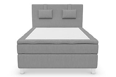 Komplett Sängpaket Roma Lyx 140 Ljusgrå/Vita Ben
