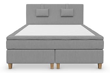 Komplett Sängpaket Roma Lyx 160 cm Ljusgrå/Ekben