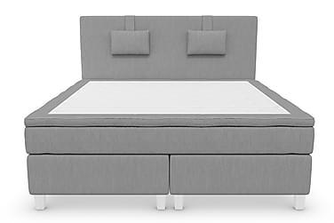 Komplett Sängpaket Roma Lyx 180 Ljusgrå/Vita Ben