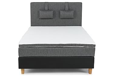 Komplett sängpaket Romance Lyx 120 Svart PU/Tyg Ek Fyrkantig