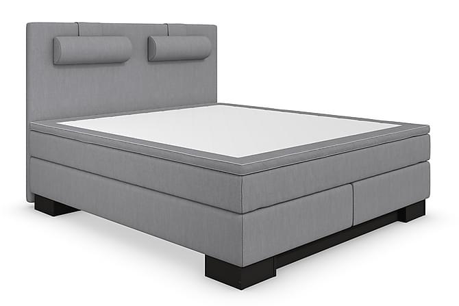 Komplett Sängpaket Romance Lyx Ljusgrå/Svart Sockel - 160x200 - Möbler - Sängar - Komplett sängpaket
