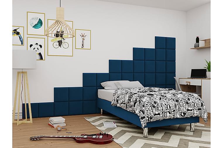 Kontinentalsäng Forenza 120x200 cm+Panel 30 cm - Blå - Möbler - Sängar - Komplett sängpaket