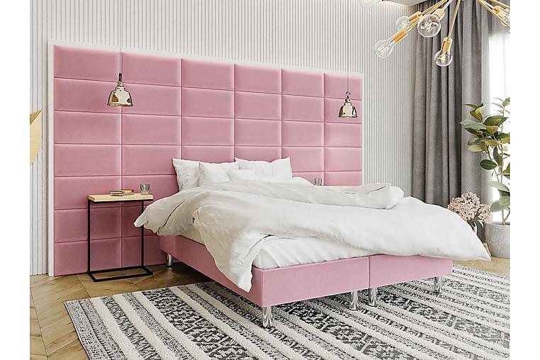 Kontinentalsäng Forenza 160x200 cm+Panel 60 cm - Rosa - Möbler - Sängar - Komplett sängpaket