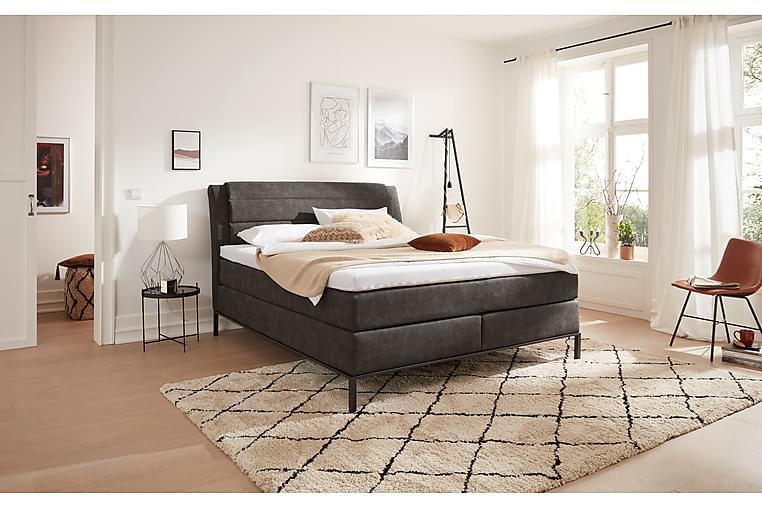 Sängpaket Bagheria Kontinentalsäng 160x200 cm H2/H3 - Konstläder/Svart - Möbler - Sängar - Kontinentalsängar
