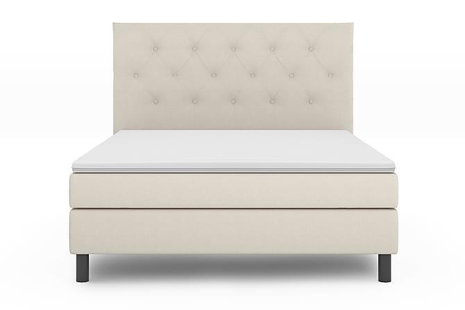 Sängpaket Bergen Lyx 140x200 - Beige|Svart - Möbler - Sängar - Komplett sängpaket