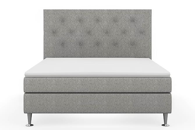 Sängpaket Fjord Lyx 160x200 - Grå|Lyx Metall - Möbler - Sängar - Komplett sängpaket