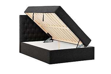 BOXBED 140 Förvaringssäng Svart