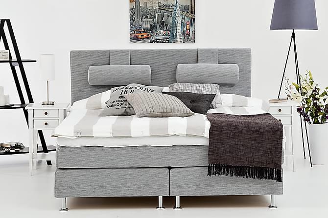 Kontinentalsäng Candela 160 Ljusgrå - Utan Sänggavel - Möbler - Sängar - Kontinentalsängar