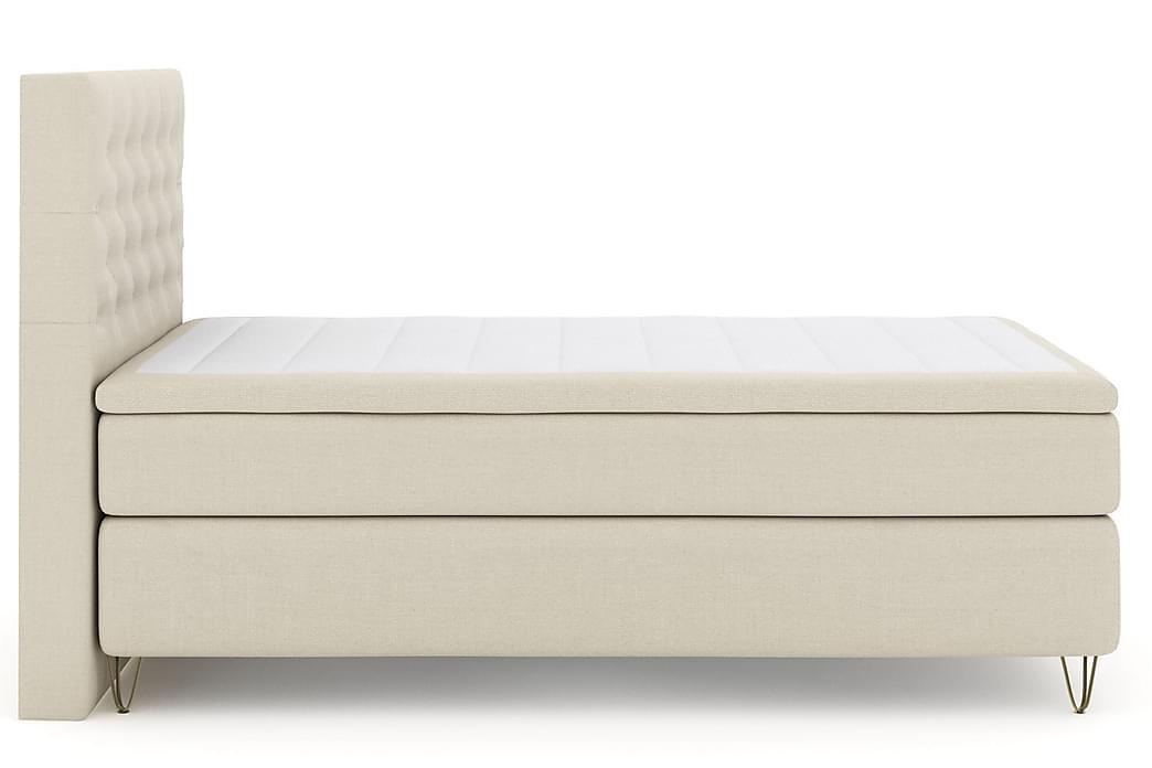 Kontinentalsäng Choice No 5 120x200 Medium Watergel - Beige|Metall V-Form - Möbler - Sängar - Kontinentalsängar