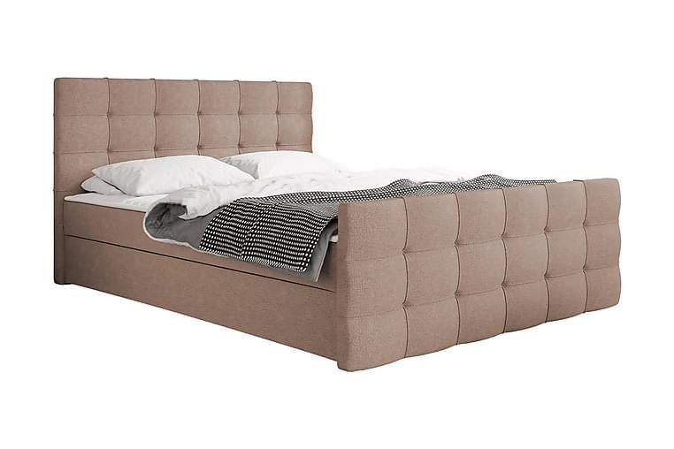 Kontinentalsäng Dihel 180x210 cm - Rosa Beige - Möbler - Sängar - Kontinentalsängar