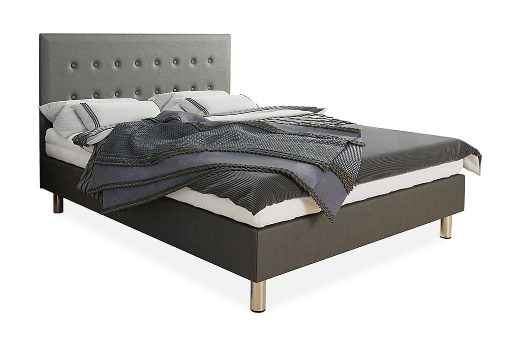Kontinentalsäng Lux 120x204 cm - Grå - Möbler - Sängar - Kontinentalsängar
