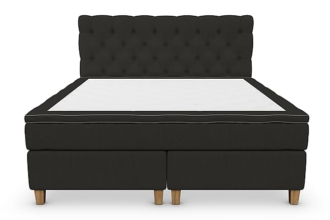 Kontinentalsäng Roma Lyx 160 Svart/Ekben - 160x200 cm - Möbler - Sängar - Kontinentalsängar