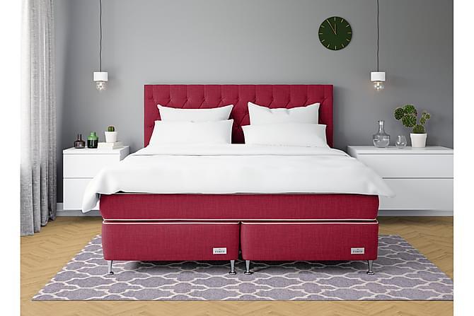 Sängpaket Model No 4 160x200 Medium/Fast Latex Röd - Inbed - Möbler - Sängar - Kontinentalsängar