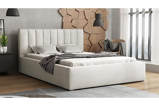 Ramsäng Ideal 223x180x93 cm - Beige|Grå|Vit - Möbler - Sängar - Ramsäng & resårbotten