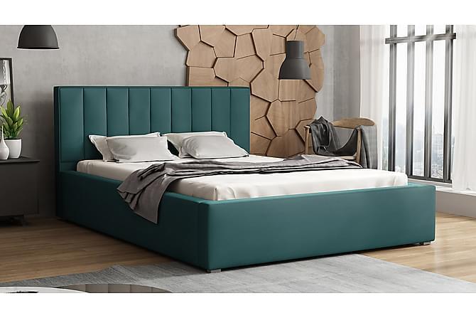 Ramsäng Ideal 223x200x93 cm - Blå - Möbler - Sängar - Ramsäng & resårbotten