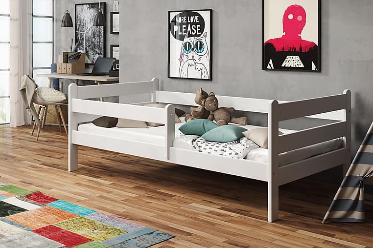 Sängram Lacker 80x140 - Vit - Möbler - Sängar - Ramsäng & resårbotten