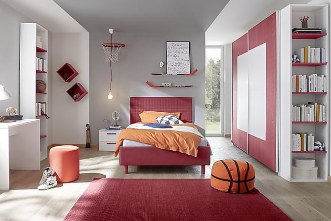 Sängram Latour 90x200 - Röd - Möbler - Sängar - Ramsäng & resårbotten