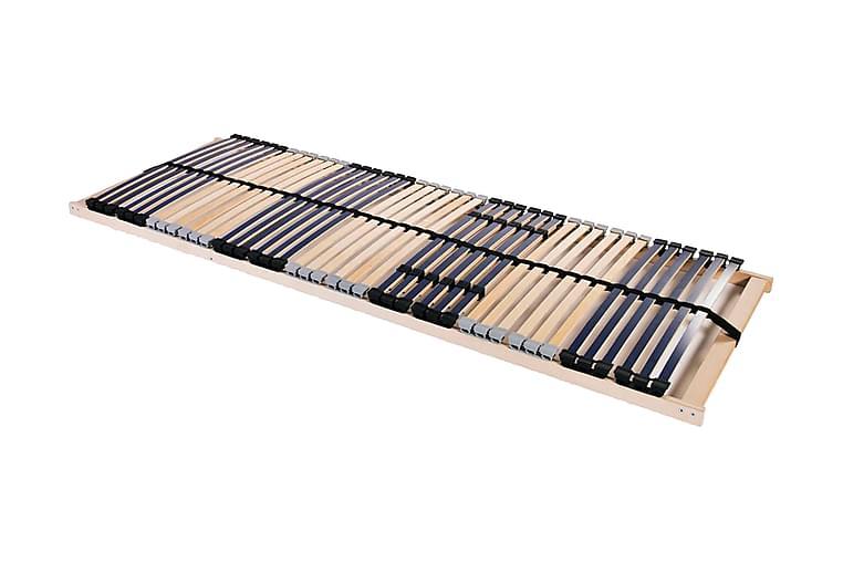 Ribbotten med 42 ribbor 7 zoner 70x200 cm - Blå - Möbler - Sängar - Ribbotten