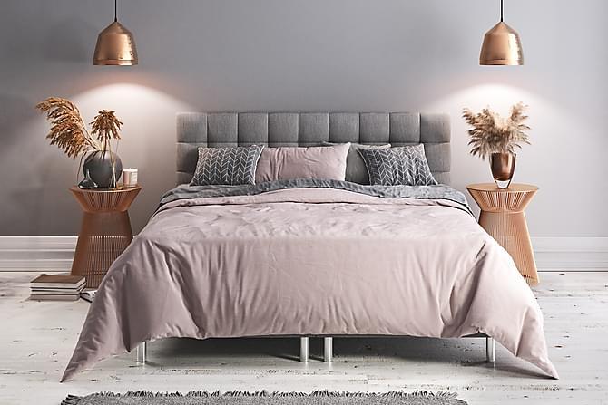 Box Bed Suset Ljusgrå - 160x200 - Möbler - Sängar - Dubbelsängar