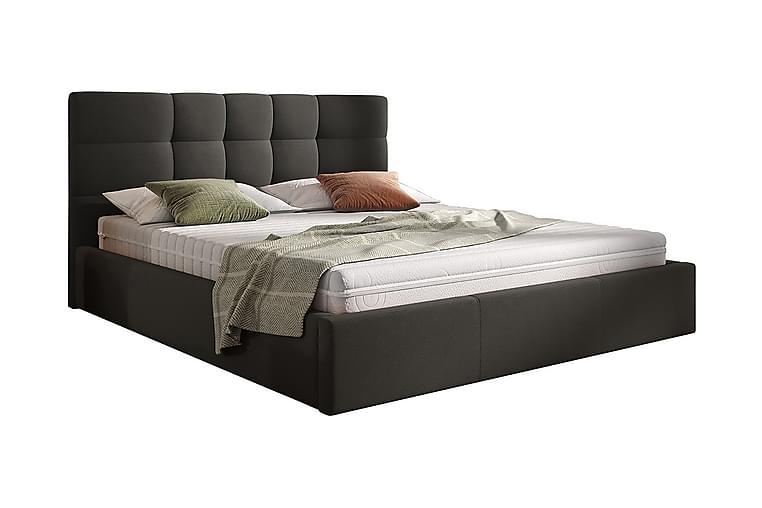 Förvaringssäng Arellano 160x200 cm - Svart - Möbler - Sängar - Sängar med förvaring