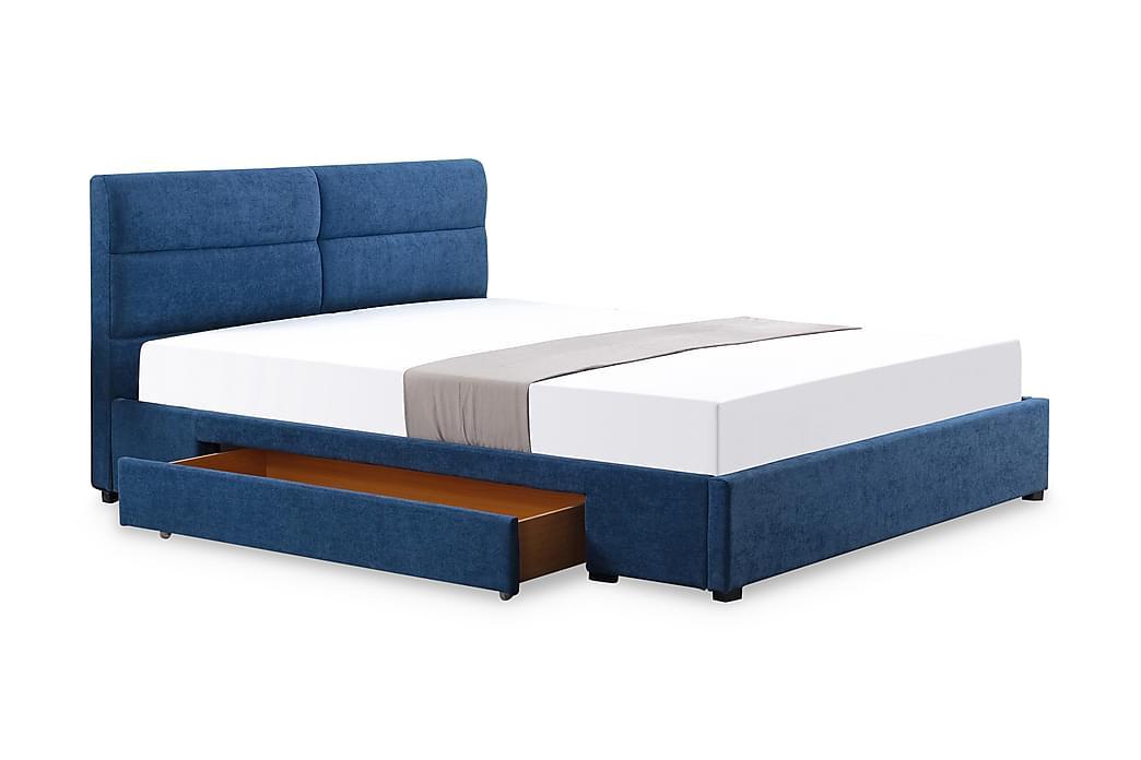 Förvaringssäng Morera 160x200 - Blå|Svart - Möbler - Sängar - Sängar med förvaring