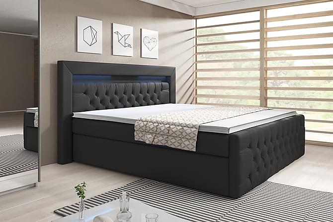 Sängpaket Celio 160x200 - Svart/Konstläder - Möbler - Sängar - Komplett sängpaket