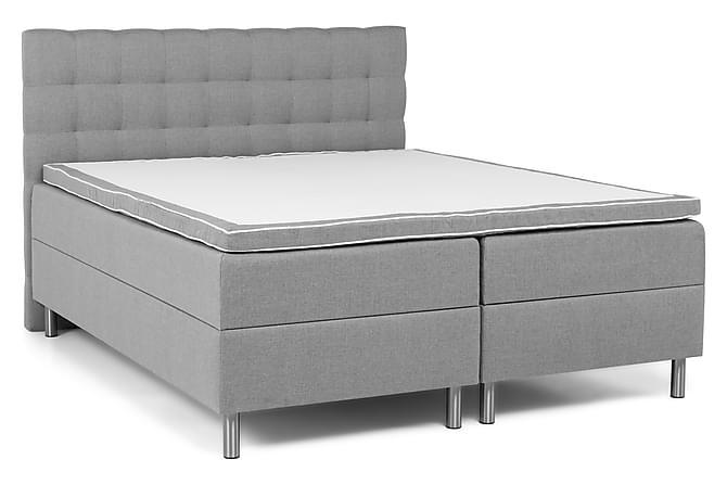 Komplett Sängpaket Suset Box Bed Ljusgrå - 160x200 - Möbler - Sängar - Dubbelsängar