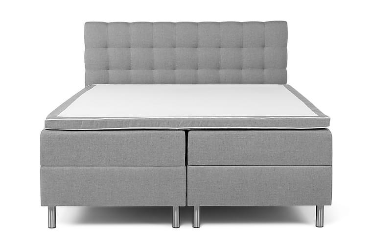 Komplett Sängpaket Suset Box Bed Ljusgrå - 180x200 - Möbler - Sängar - Sängar med förvaring