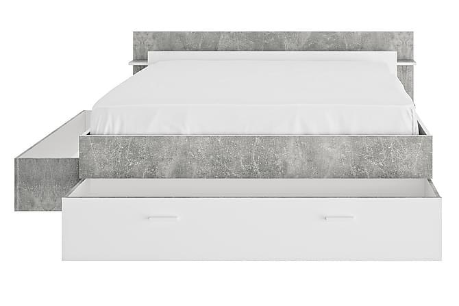 Sängram Frannie 140x190 - Sten|Vit - Möbler - Sängar - Sängar med förvaring