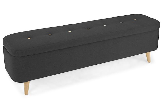 Sängkista Fantasy 160x40 cm Mörkgrå - Grå|Svart - Möbler - Sängar - Sängförvaring
