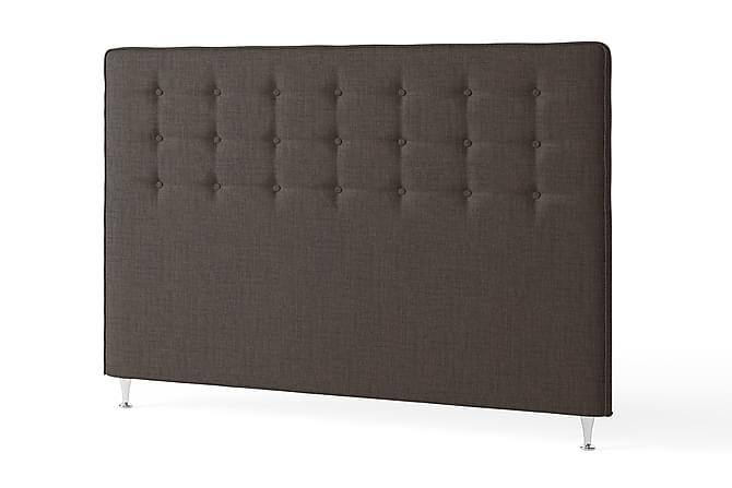 Sänggavel 180 cm Knappar Modern Brun - Inbed - Möbler - Sängar - Sänggavel