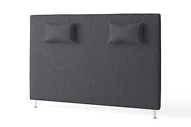 Sänggavel 180 cm Slät med Kuddar Mörkgrå
