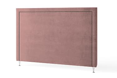 Sänggavel 90 cm Grafitnitar Sammet Rosa