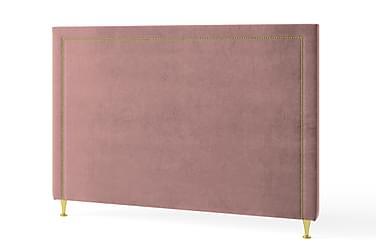 Sänggavel 90 cm Guldnitar Sammet Rosa