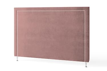 Sänggavel 90 cm Silvernitar Sammet Rosa