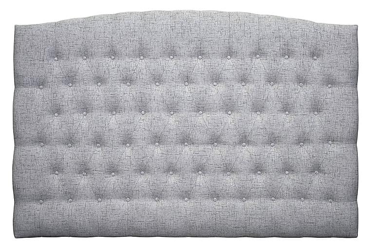 Sänggavel Abelie 180 cm Svängd - Ljusgrå - Möbler - Sängar - Sänggavel