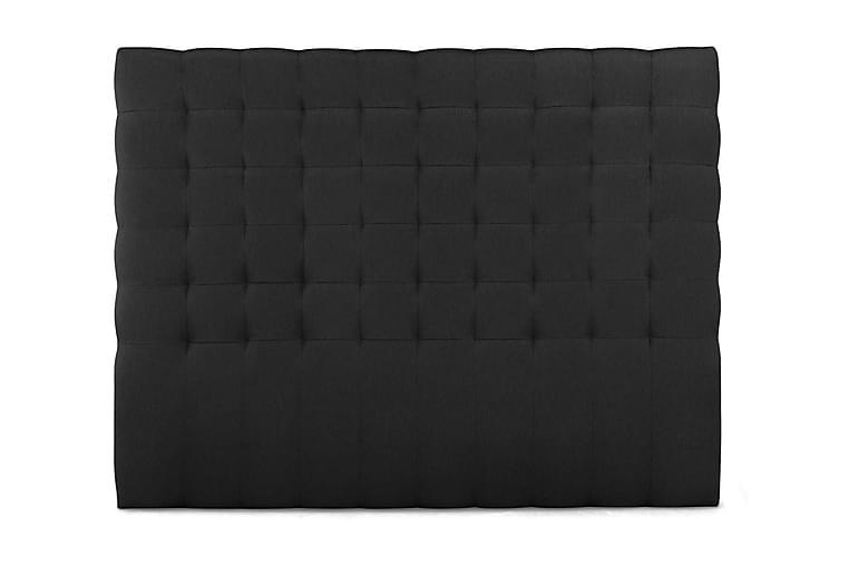 Sänggavel Relax 210 cm Rutmönstrad Hög - Svart - Möbler - Sängar - Sänggavel