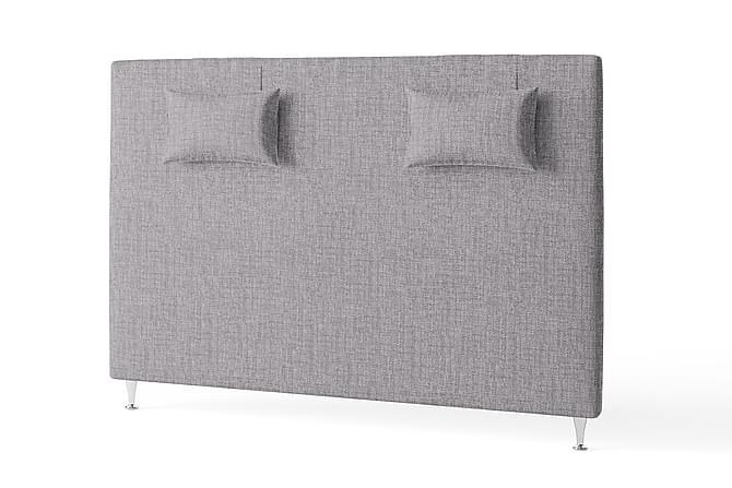 Sänggavel 180 cm Slät med Kuddar Grå - Inbed - Möbler - Sängar - Sänggavel