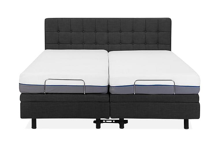 Dubbelsäng Kisterud 160x200 cm - Grå - Möbler - Sängar - Sängram & sängstomme