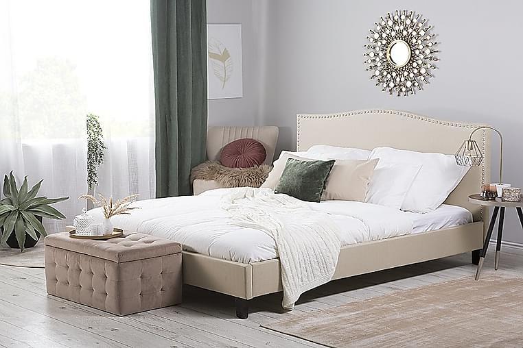 Dubbelsäng Montpellier 180|200 cm - Beige - Möbler - Sängar - Sängram & sängstomme