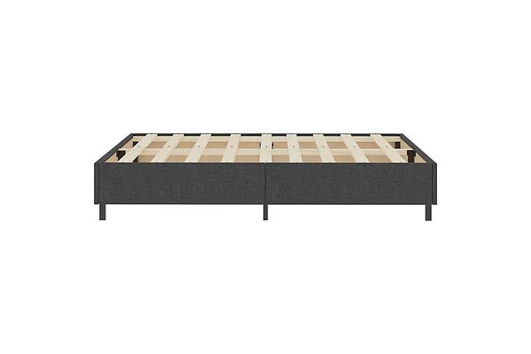 Resårsäng mörkgrå tyg 180x200 cm - Grå - Möbler - Sängar - Sängram & sängstomme